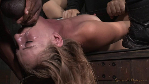 BDSM Mona Wales Fucked into squirting orgasms by BBC!
