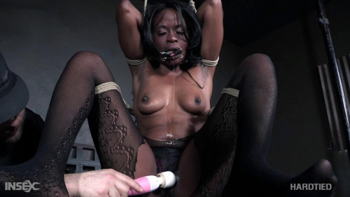 BDSM Expressing bondage for ebony slave