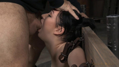 bdsm Bound in brutal back arch