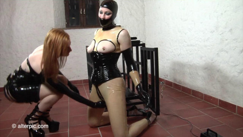 BDSM Latex Caged