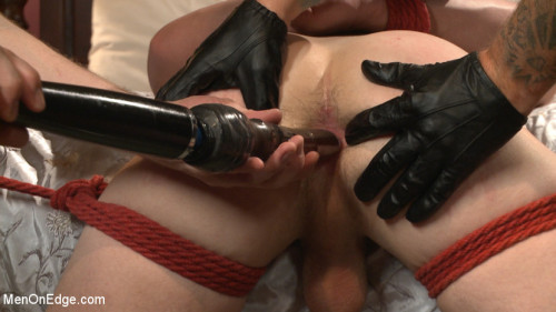 Gay BDSM Puppy can suck his own dick, and does it live