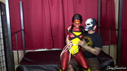BDSM Raven Eve Spiderwoman Hogtied