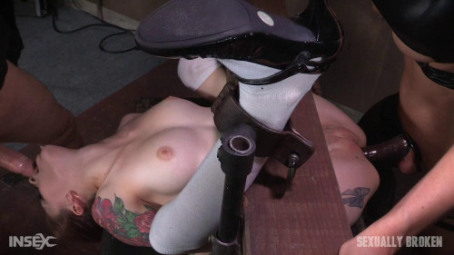 bdsm Anna De Ville is fed cock and pussy while bound and helpless Dominated to cum over and over