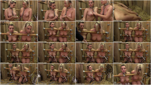 BDSM Dolly and Penny Lee - On The Double Goat Milker