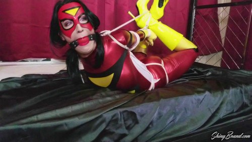 BDSM Raven Eve - Spiderwoman Hogtied