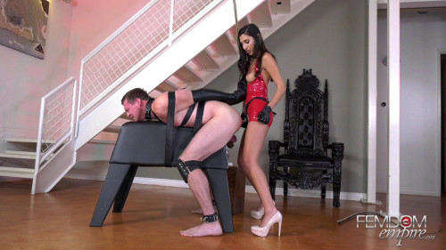 Femdom and Strapon Abused by Dick