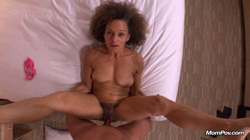 Horny hairy milf hungry for young cock