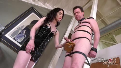 Femdom and Strapon Hands Free Orgasm