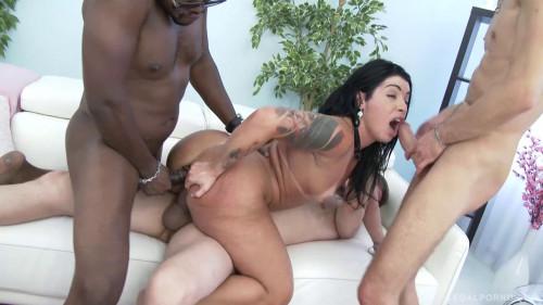 Huge butt latina slut Monica Santiago loves brutal anal orgy & DP