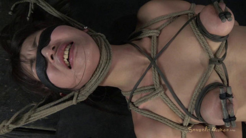 BDSM Cute Japanese girl roughly deep throated and Fucked hard