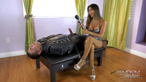 Femdom and Strapon Mercy Milked