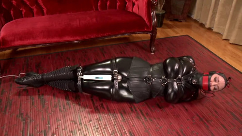 BDSM Latex Bondage, hogtie, domination and torture for sexy slave model