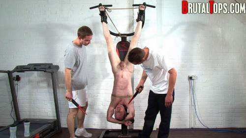 Gay BDSM Hung, Pissed On And Shocked