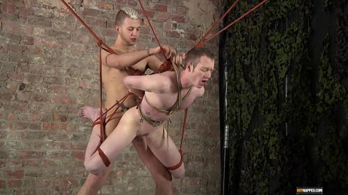 Gay BDSM Slamming Suspended Arse
