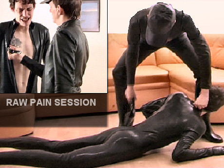 Gay BDSM Heavy Slapping Therapy for a poor Slave