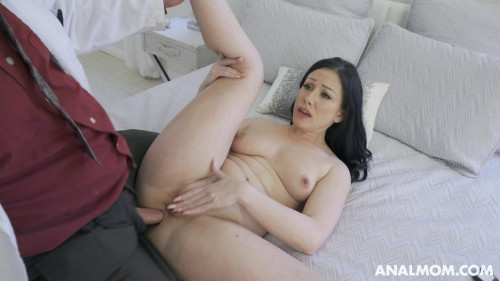 Climbs on top of him and gets anal