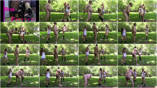 Femdom and Strapon Sasha Foxxx and Chloe - Slave Ballbusted For Forgetting Items On List