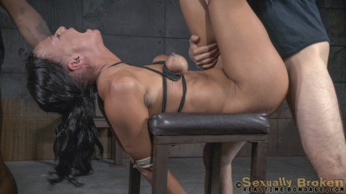 BDSM Tan Brunette London River In Her First BaRS Show - HD 720p