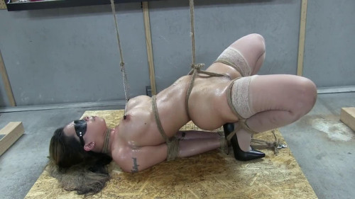 BDSM Hard bondage, strappado and torture for naked model