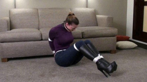bdsm Serene Purple Turtleneck, Jeans and Knee Boots Part Two