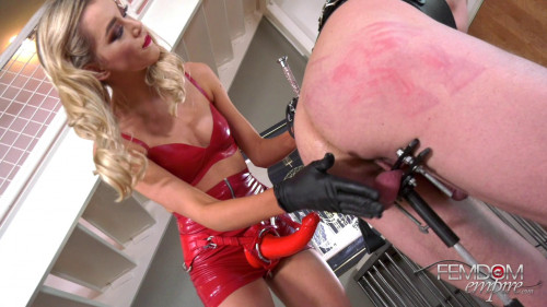 Femdom and Strapon Stuck on Dick