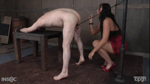 Femdom and Strapon Dick Tied