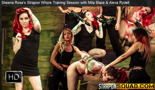 bdsm Straponsquad - May 13, 2016 - Sheena Roses Strapon Whore Training Session