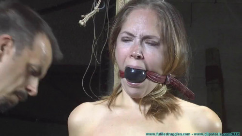 BDSM Hard bondage, hogtie and strappado for naked sexy girl Full HD 1080p
