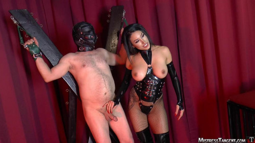 Femdom and Strapon Blackmailing Property - Domination HD