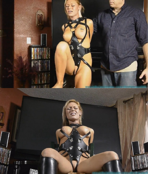 BDSM Tight bondage, domination and torment for beautiful naked girl