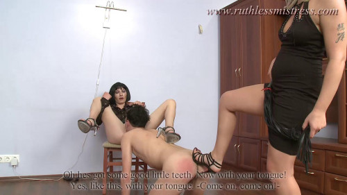 Femdom and Strapon Staying Down And Pleasing Them - HD 720p