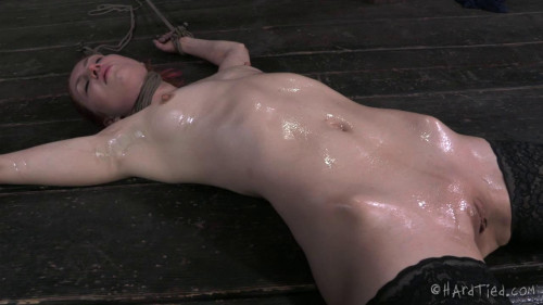 BDSM HT - Redhead Calico - Uncut: No editing, one take. All the tying onscreen... - HD