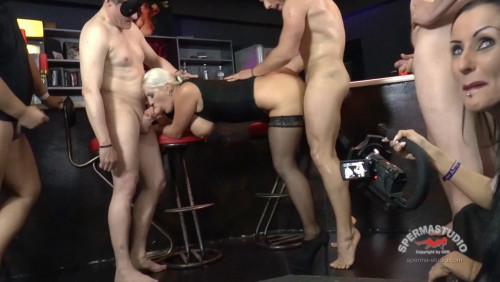 Huge Tits Heidi Hills Gangbanged With Many Loads At Bar