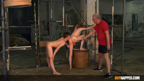 Gay BDSM BoyNapped Tormenting 2 Twinky Play Things - Part 1