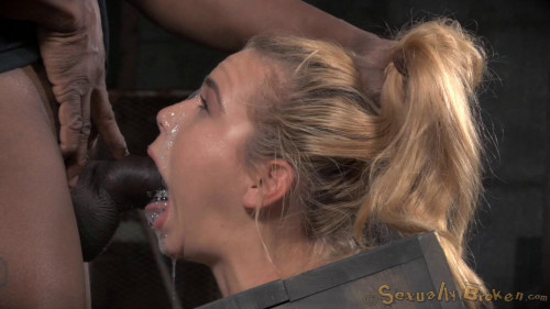 bdsm Blue eyed blonde Alina West bolted into a wooden box and roughly fucked by BBC, drooling deepthroat