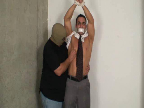 Gay BDSM Young Executive Stripped, Milked and Fucked - Part 1
