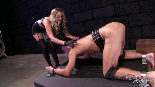 Femdom and Strapon Impaled by Cock