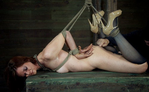 bdsm Girl next door endures Category 5 face fucking and suspension , made to cum , HD 720p