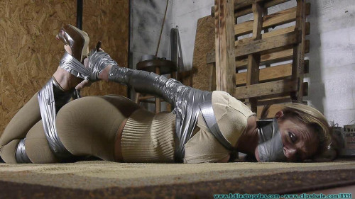 BDSM Courtney Mummified Gag Doll  pt.1