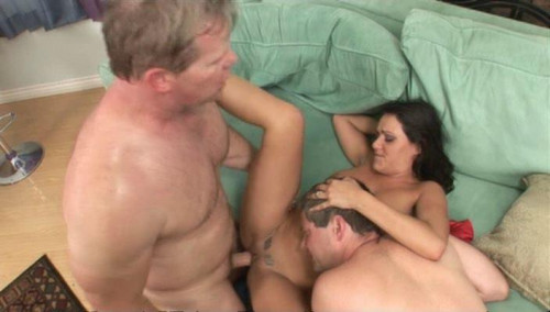 Femdom and Strapon Her husband, a fleece suck dick my lover?