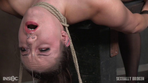 bdsm Iona Grace (Iona Graces Big Natural Breasts Bound As She Is Throatboarded