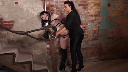Femdom and Strapon Famous fetish model trained