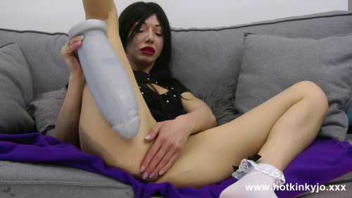 Fisting and Dildo Huge grey dong in hotkinkyjo