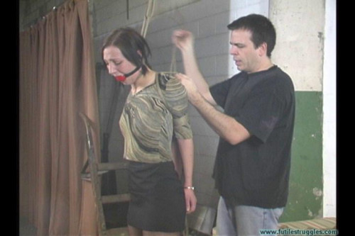 BDSM Illustrious Rogue Captured Neckroped Hogtied and Gagged Tight