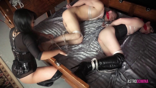Femdom and Strapon Bondage Mayhem - Full Version
