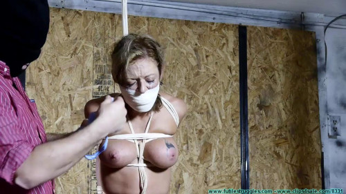 BDSM Courtney Tied Standing - Part 3