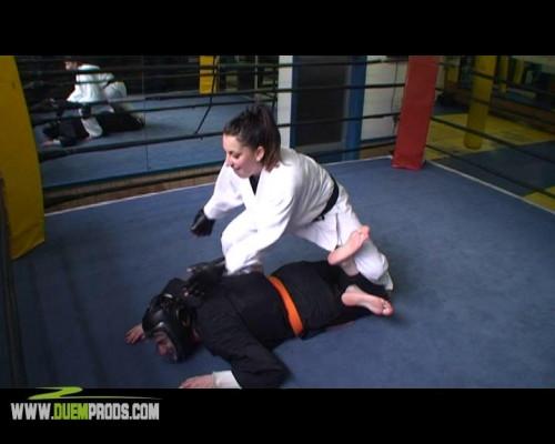 Femdom and Strapon Cristina - Jiu Jitsu Extreme Fight