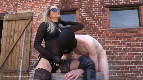 Femdom and Strapon Strap-On In The Sun At The Farm