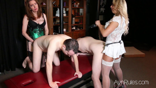 Femdom and Strapon Share Our Sluts