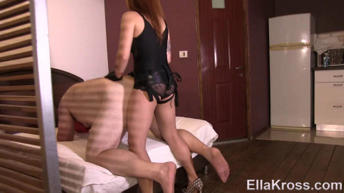 Femdom and Strapon Slave Gets His Virgin Ass Rammed with a Strap-On (2017)